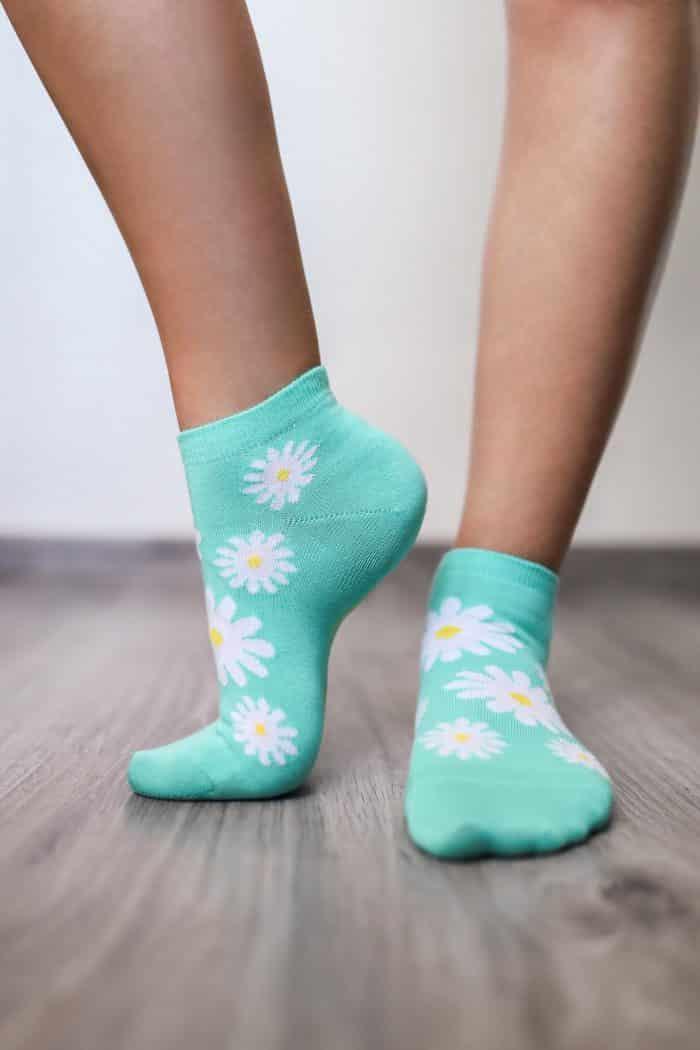Barefoot ponožky krátke - BeLenka - Margarétky 2