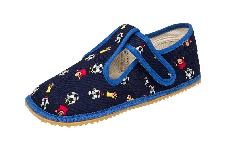 BOTY BEDA - Papučky - Modrý futbal • Bosáčik 76fa4b46e6