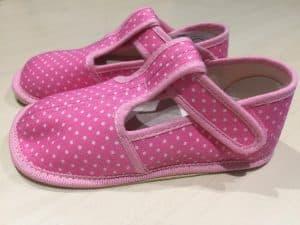 BOTY BEDA – Papučky – Ružové s bodkami – SLIM verzia e45bd72a1a