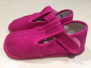 BOTY BEDA – Papučky – Ružové s trblietkami – SLIM verzia f4a300b414