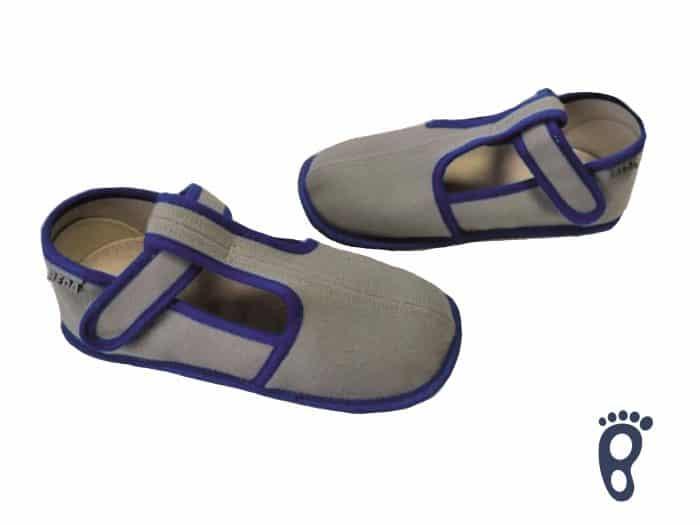 BOTY BEDA - Papučky - šedo-modré - SLIM verzia 1