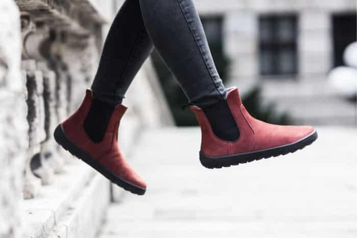 BeLenka Entice - Burgundy - Barefoot topánky 4