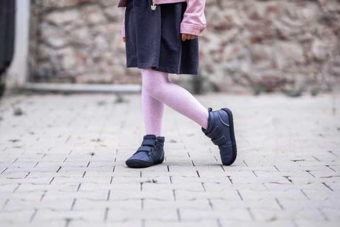 Detské zimné barefoot topánky Be Lenka Penguin - Charcoal 1