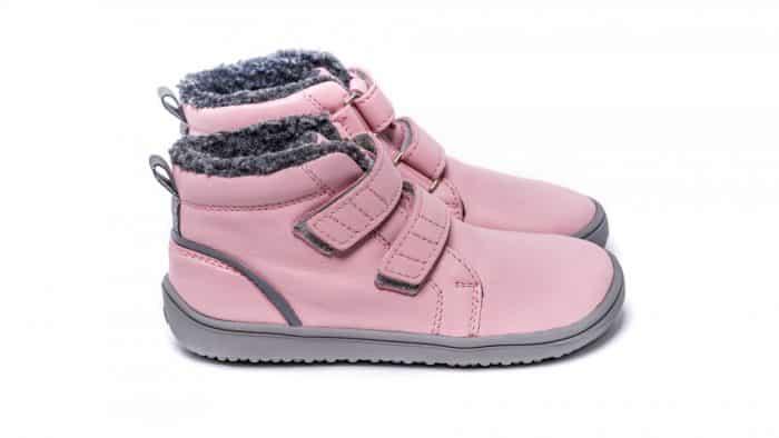 Detské zimné barefoot topánky Be Lenka Penguin - Pink 2
