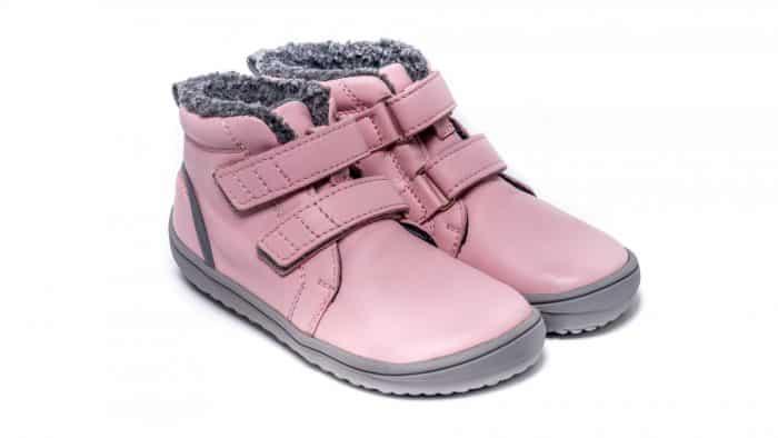 Detské zimné barefoot topánky Be Lenka Penguin - Pink 3