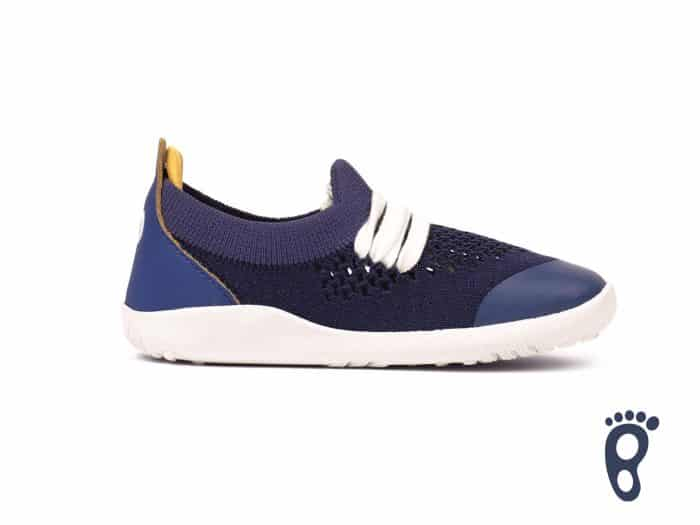 Bobux – Step Up/I walk/Kid+ Play Knit Trainer Blueberry Yellow 1