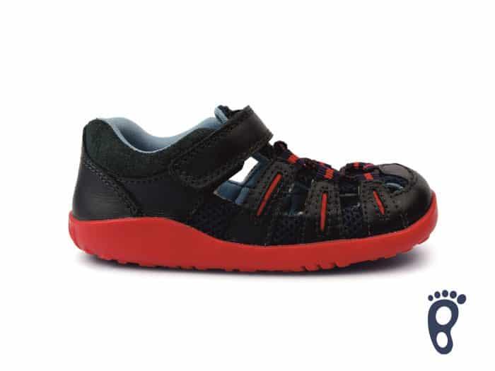 Bobux – Summit - Navy Red - sandálky 1