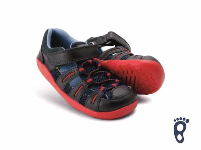 Bobux – Summit - Navy Red - sandálky 2