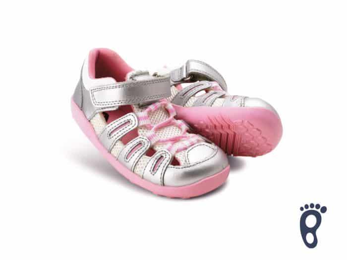 Bobux – Summit - Silver mettalic Candy - sandálky 2