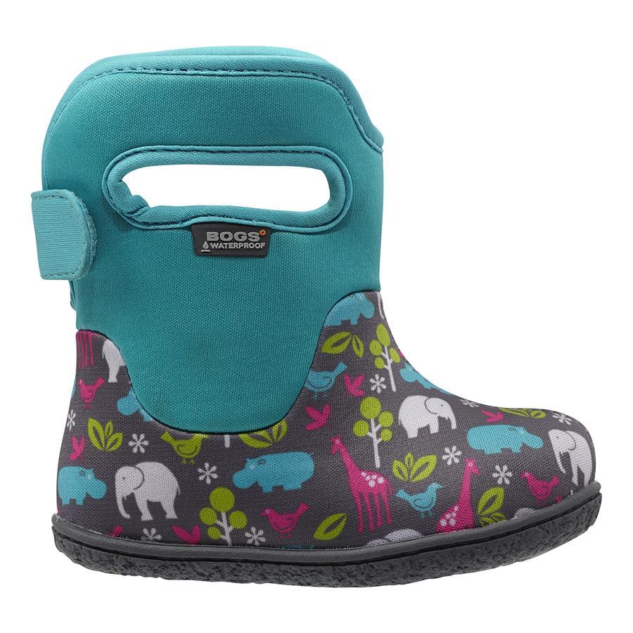f6c859671b47 Home eShop Topánky pre deti Čižmy BABY BOGS – Classic – Animals – Aqua Multi
