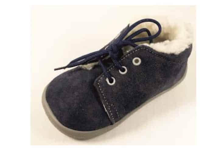 BOTY BEDA - Lucas - Zateplené topánky - Modré s membránou - šnúrky 1