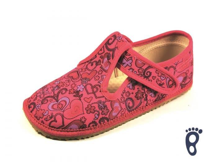 BOTY BEDA - Papučky - Ružové srdce 1