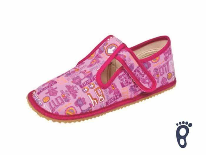 BOTY BEDA - Papučky - Ružové znaky 1