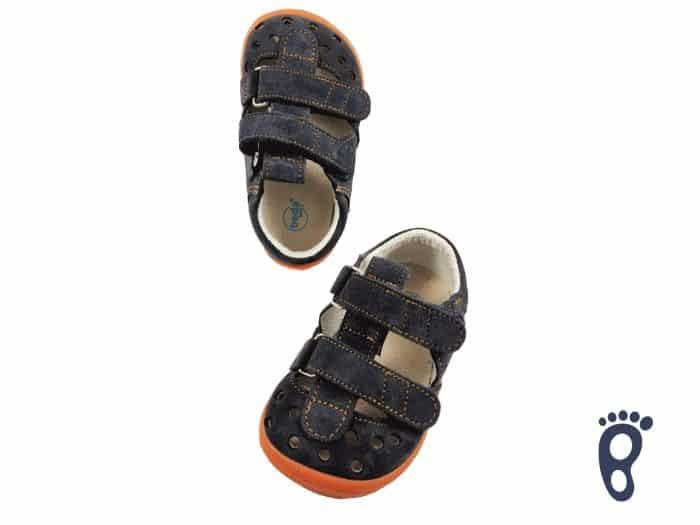 BOTY BEDA - Sandálky - Blue Mandarine 1