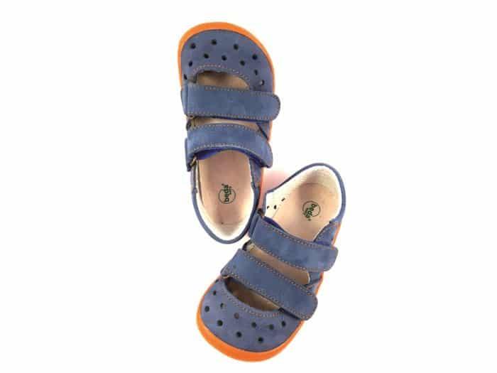 boty beda sandalky oranzove