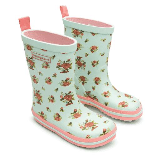 bundgaard classic rubber boots mint roses