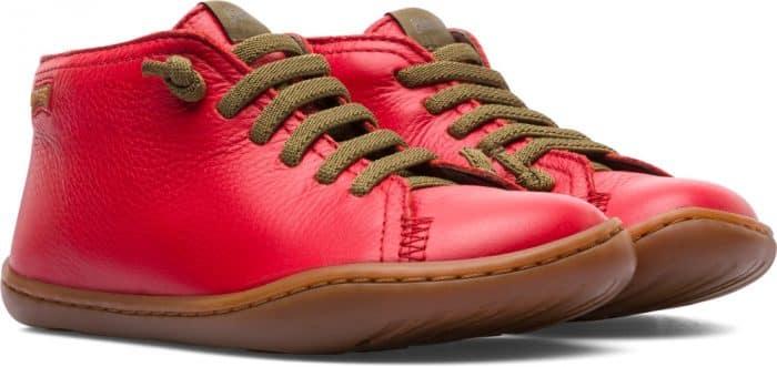 camper peu prechodne topanky cervene vysoke