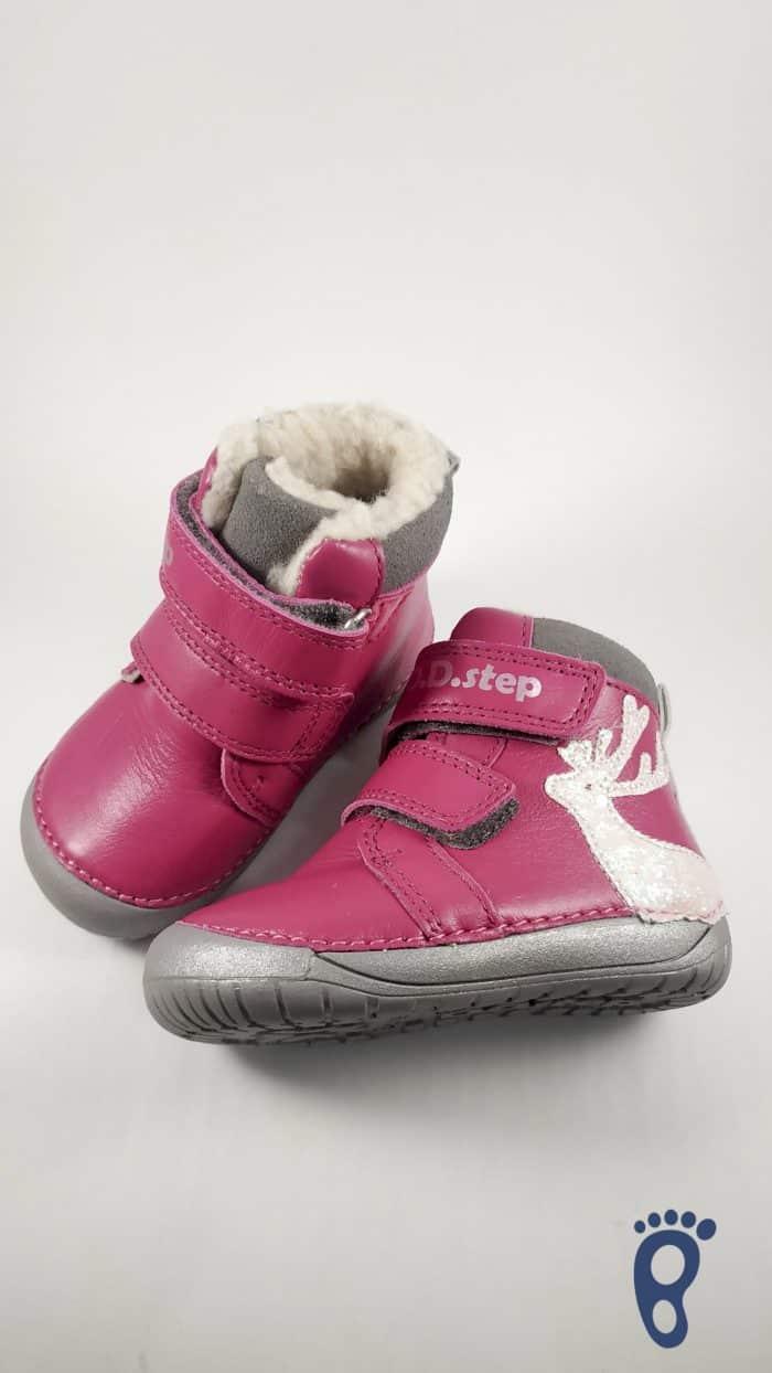 D.D.Step  - Zimné topánky - Dark Pink - Reindeer 1