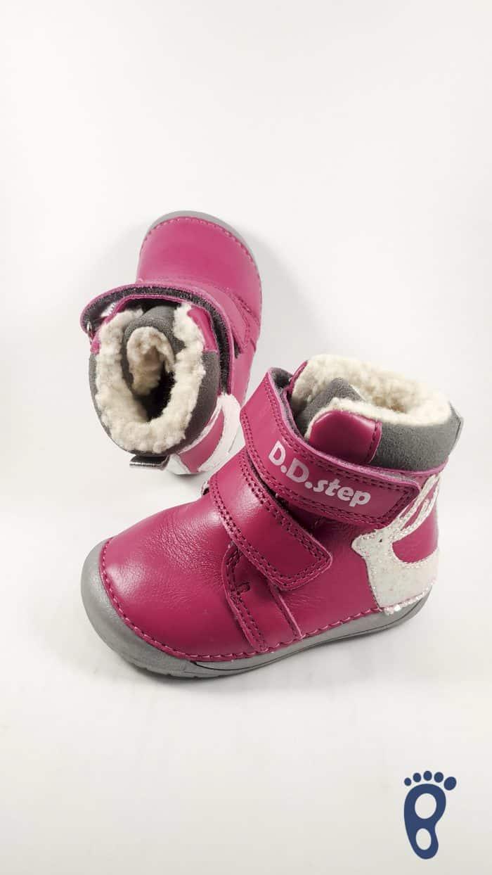 D.D.Step  - Zimné topánky - Dark Pink - Reindeer 2