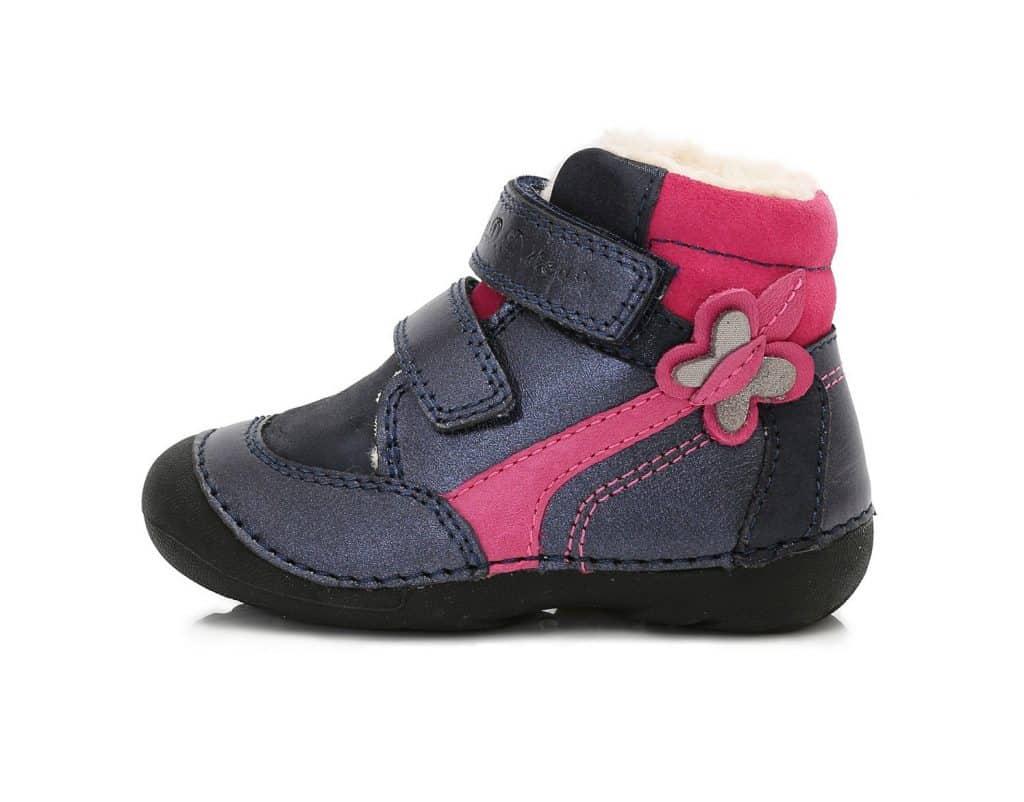 D.D.Step - Zimné topánky - Royal Blue - Tmavomodré s motýľom • Bosáčik c4bbbd8c00