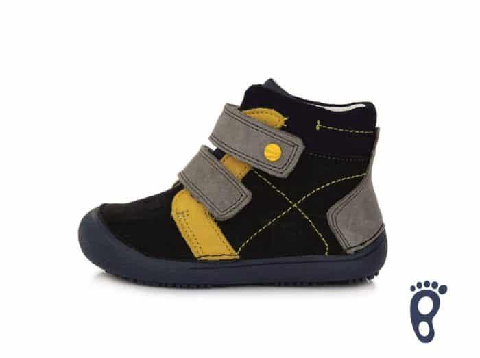 dd step d.d.step prechodne topanky barefoot pre deti detske black