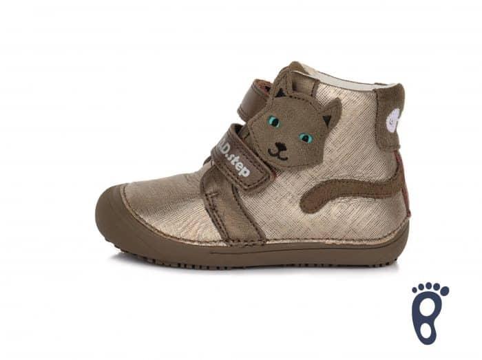 dd d.d.step step prechodne topanky barefoot pre deti chocolate macka dievcenske