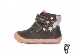 dd step d.d.step prechodne topanky barefoot pre deti dark pink hviezdy