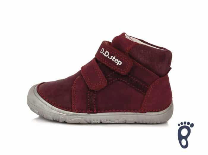 dd step d.d.step prechodne topanky barefoot pre deti red cervene