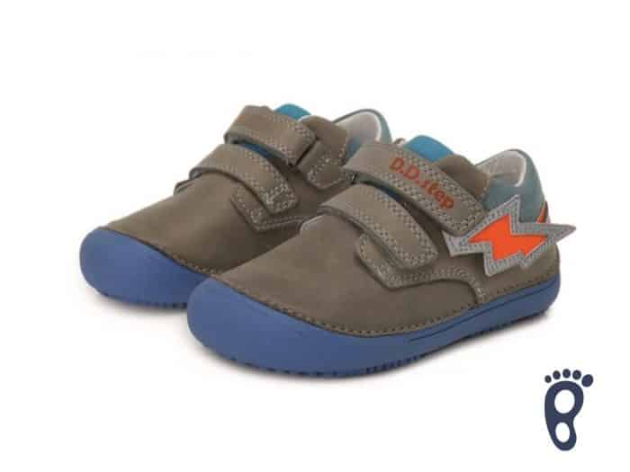 D.D.Step - Prechodné topánky - Grey - Oranžové blesky 2