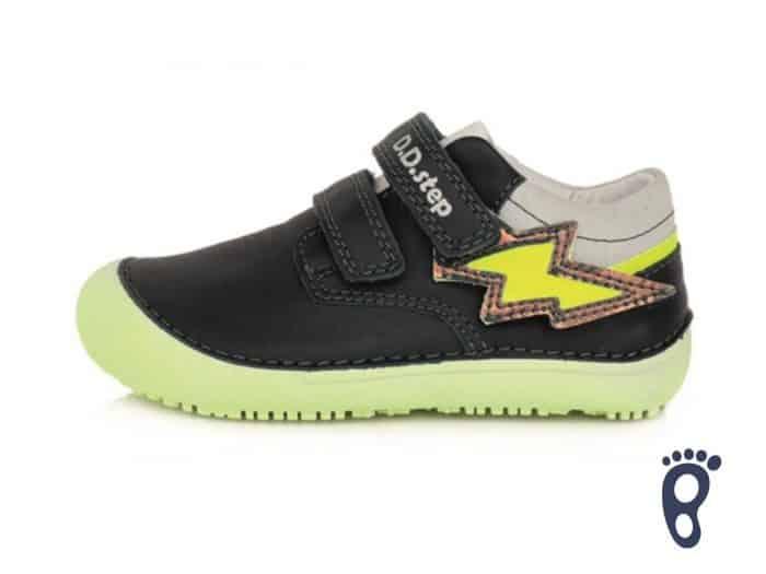 D.D.Step - Prechodné topánky - Royal Blue - Žlté blesky 1