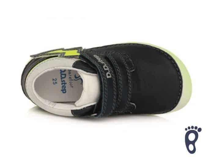 D.D.Step - Prechodné topánky - Royal Blue - Žlté blesky 4
