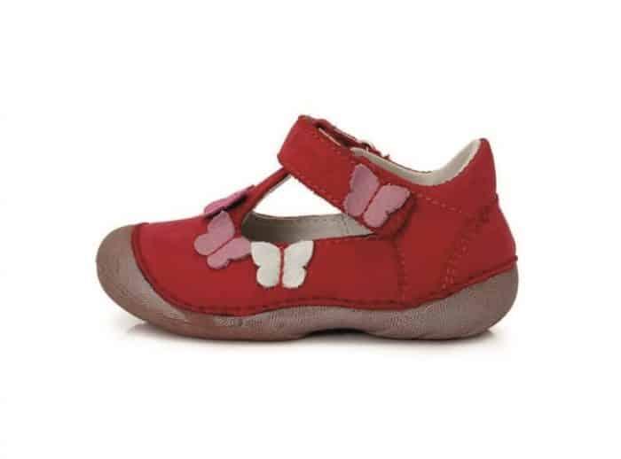 ddstep sandale cervene s motylikmi