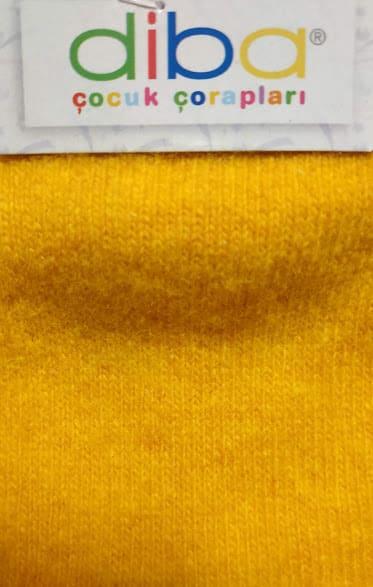 Diba - Vlnené ponožky - Jednofarebné - Oranžová 1