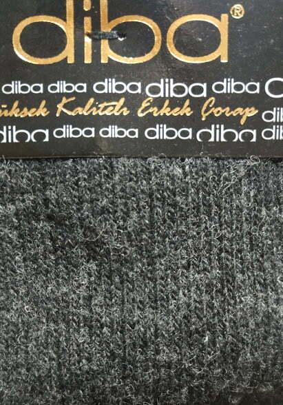Diba - Pánske vlnené ponožky - Tmavosivé 1