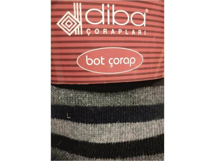 Diba - Dámske vlnené ponožky - Pásikavé - Čierno-modré 1