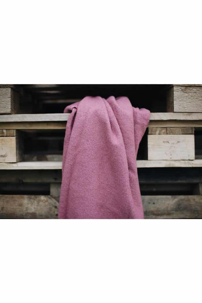 dorfsheep obojstranna vesta s kapucnou staroruzova