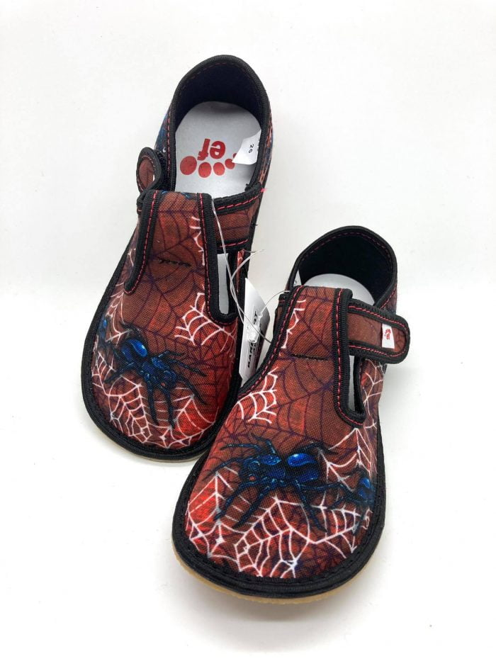 ef chlapcenske papucky barefoot spiderman spider
