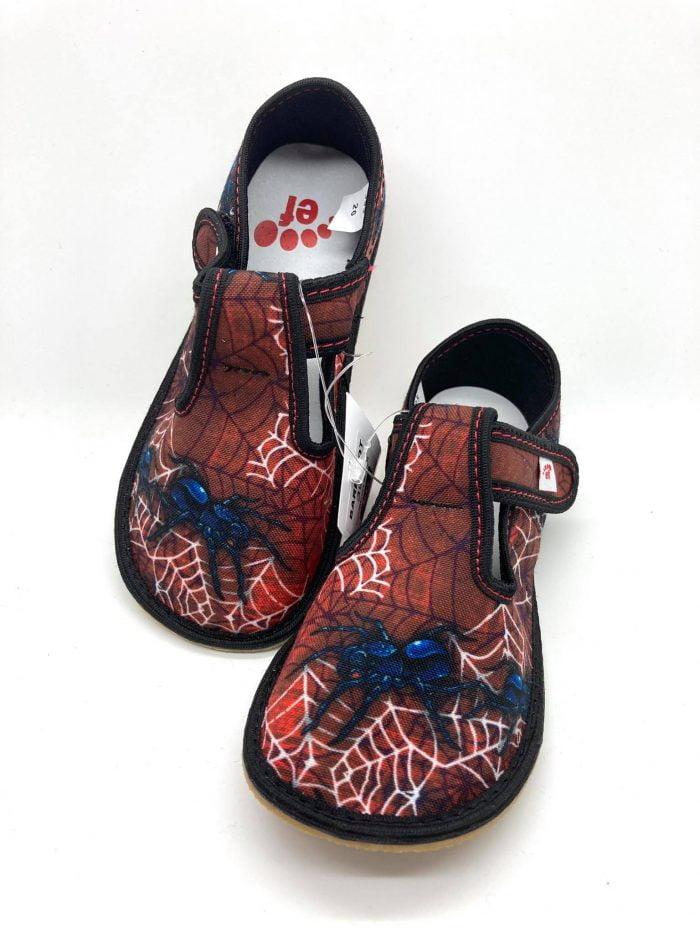 ef chlapcenske papucky barefoot spiderman spider