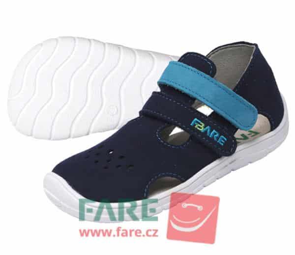 fare bare chlapcenske sandale modre II