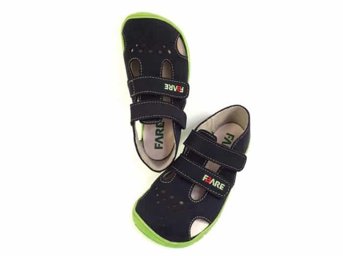 fare bare chlapcenske sandale modro zelene