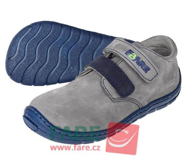 Fare Bare - Chlapčenské celoročné topánky - sivé - suchý zips 1