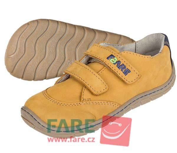 Fare Bare - Chlapčenské celoročné topánky - hnedé - suchý zips 1