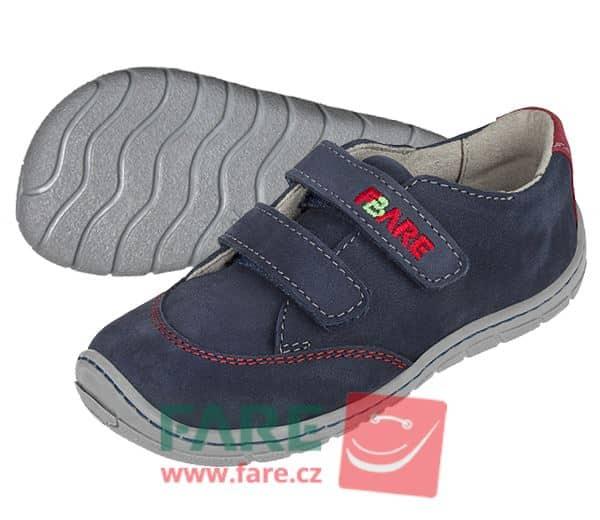 Fare Bare - Chlapčenské celoročné topánky - modré - suchý zips 1
