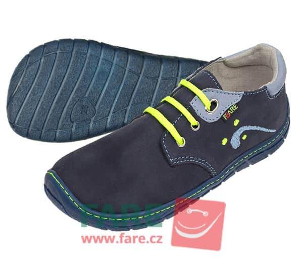 Fare Bare - Chlapčenské celoročné topánky - modré - šnúrky 1