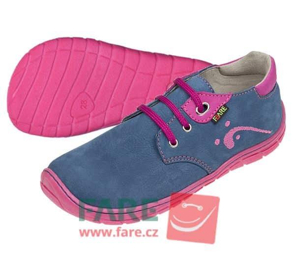 Fare Bare - Dievčenské celoročné topánky - modré - šnúrky 1