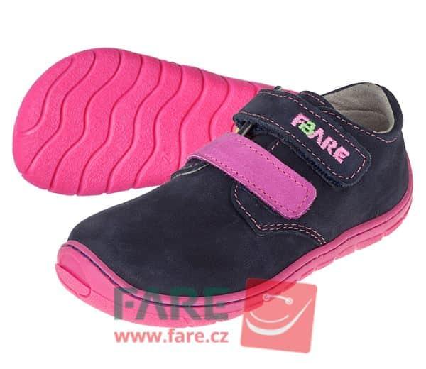 Fare Bare - Dievčenské celoročné topánky - suchý zips 1