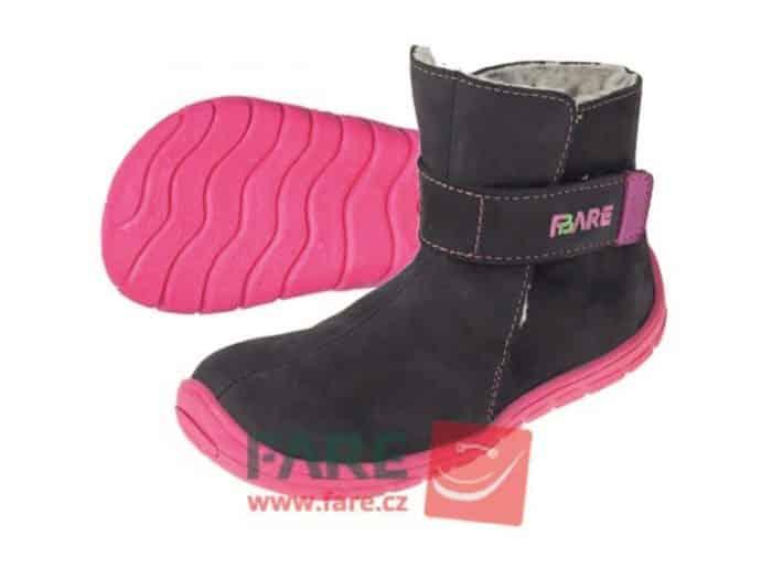 Fare Bare - Dievčenské čižmičky modro-ružové 1