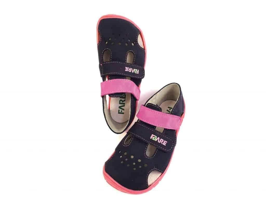 7ac3597a59aa Fare Bare - Dievčenské sandále - modro-ružové - II • Bosáčik