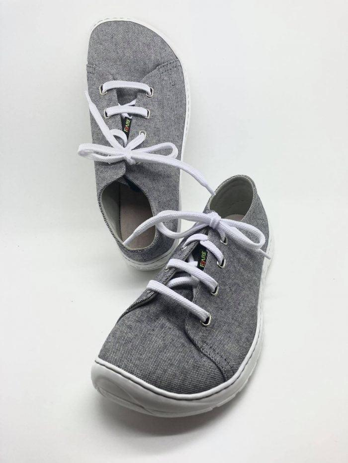 fare bare tenisky pre dospelych barefoot sive