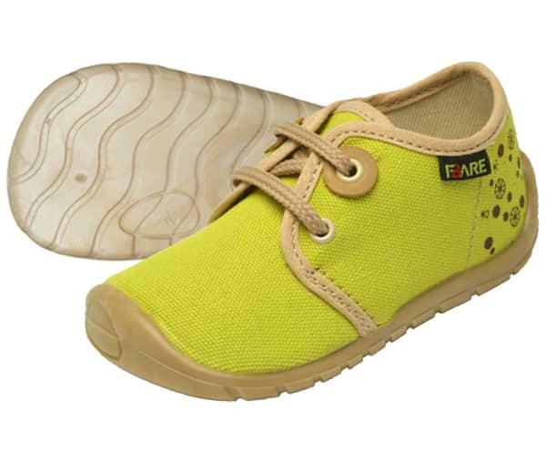Fare Bare - Tenisky - Prvé krôčky - žlté • Bosáčik a6b7316c41